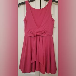 ASOS Pink Bow Back Skater Dress 6